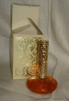Vintage Avon Perfume Oil BROCADE Full Bottle in Original Box .5 Oz #Avon