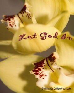 Let God In  #Girlfriends Coffee Hour  #Online Teens Bible Study