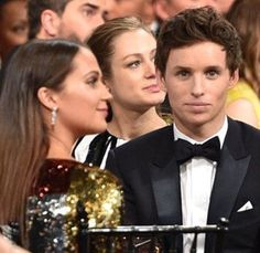 "bespokeredmayne: ""Lucky at love (and casting): Eddie Redmayne with film wife Alicia Vikander and real-life spouse Hannah Bagshawe at 2016 SAG Awards. """