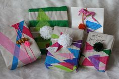 DIY Geometric Wrapping Paper | The Alison ShowThe Alison Show