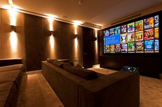Home cinema inspiration with this incredible cinema / panic room. Highly commended Best Integrated House at the CEDIA awards 2012