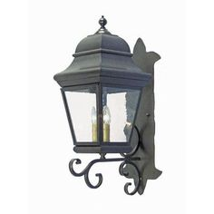 2nd Ave Design Cicero 3 Light Outdoor Sconce Finish: Rustic Iron, Shade Type: Real Mica