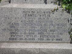 File:The inscription on the grave of Isobel Wylie Hutchison, Kirkliston, Scotland.jpg