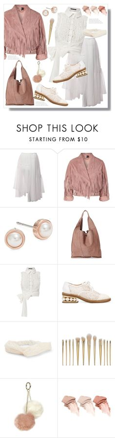 """""""Blush Suede 80's Biker Jacket"""" by queenvirgo ❤ liked on Polyvore featuring Comme des Garçons, Topshop, Ted Baker, Moda Luxe, Marissa Webb, Nicholas Kirkwood, Aéropostale, Dorothy Perkins and Too Faced Cosmetics"""