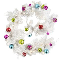 Pre-Lit Holiday Garland, love the contemporary look