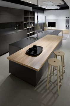 45 Black Kitchen Cabinets Ideas for the Bold Modern Home Contemporary Kitchen Black bold Cabin Cabinets Home Ideas Kitchen Modern Contemporary Kitchen Cabinets, Black Kitchen Cabinets, Black Kitchens, Modern Kitchen Design, Luxury Kitchens, Interior Design Kitchen, Home Kitchens, Kitchen Walls, Kitchen Black