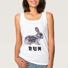 Tribal Rabbit Tank Top - animal gift ideas animals and pets diy customize