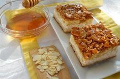 Cream Cheese Cake with Almonds/Prajitura cu crema de branza si migdale caramelizate