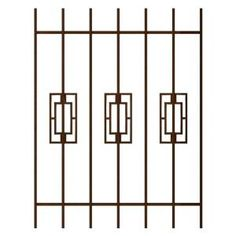 Unique Home Designs Modern Trifecta 36 in. x 54 in. Copper 7-Bar Window Guard-SWG0330COP3654 at The Home Depot