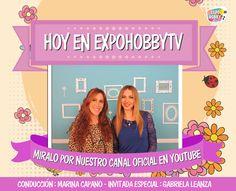 HOY en EXPOHOBBY TV: Gabriela Leanza nos enseña la innovadora técnica de Fussinglue! #ExpohobbyTV #Fussinglue #Arte #Manualidades #Decoracion #Youtube #Hoy #Miralo #NoTeLoPierdas Gabriela Leanza