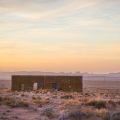 Students and faculty in a Colorado university programme completed a pair of small rusted-steel cabins on the Navajo reservation