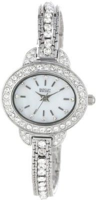 Badgley Mischka Women's  Swarovski Crystal Accented Silver-Tone Multi-Strand Bracelet Watch buy at mariescrystals.com