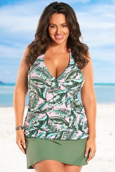 9cf94a0d2db Always For Me Pink Sky Plus Size Underwire Tankini Set