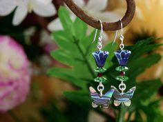 Jewelry Making Designs - Wild Lupine Earrings