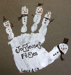 main de bonhomme de neige