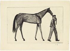 "John Brack ""Strapper and Horse"" 1956 Australian Painters, Australian Artists, Moose Art, Illustration Art, Horses, Canvas, Drawings, Animals, Sport"