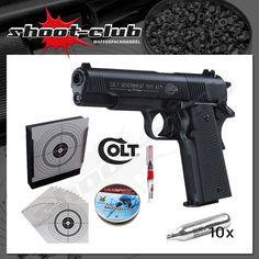 Colt Government 1911 A1 CO2 Pistole 4,5 mm - Set