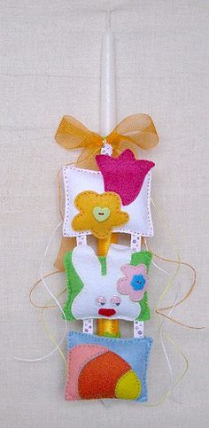 Easter Candle Baby Baptism, Christening, Easter Ideas, Easter Crafts, Decorated Candles, Greek Cooking, Happy Easter, Creative Ideas, Christmas Ornaments