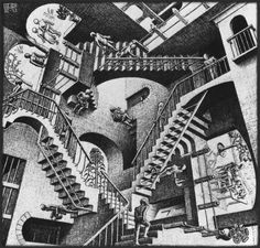 M.C. Escher- i like the creativeness of this image