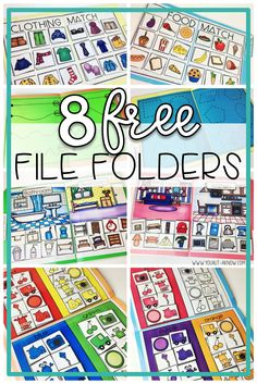 File Folder Freebies Are you ready to kick off work tasks in your special education classroom? There's no better way to get started than with 8 FREE file folder tasks. These are great tasks for use in any Autism classroom. Autism Classroom, Special Education Classroom, Kindergarten Classroom, Special Education Activities, Kids Education, Classroom Setup, Science Education, Higher Education, Life Skills Classroom