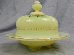 C 1905 Tarentum Georgia Gem Covered Butter Dish in Custard RARE | eBay