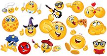 Show off your originality and amaze your friends with our fantastic Facebook chat smileys!