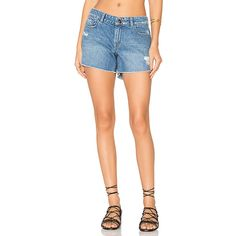 DL1961 Renee Distressed Cut Off Short (168 AUD) ❤ liked on Polyvore featuring shorts, jean shorts, ripped jean shorts, distressed denim shorts, short jean shorts, ripped denim shorts and distressed jean shorts