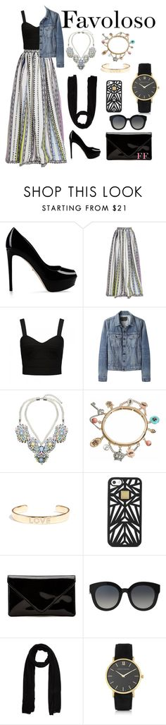 """""""Boho Hijab look"""" by rayanharisha ❤ liked on Polyvore featuring Sergio Rossi, Mary Katrantzou, Forever New, Proenza Schouler, Lipsy, Juicy Couture, Tai, Hervé Léger, Dolce&Gabbana and Joseph"""