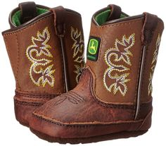 John Deere Johnny Popper Infant Pull On Crib Boots JD0342