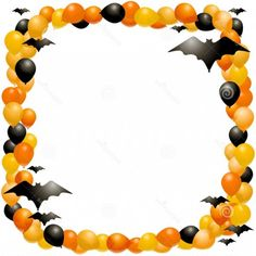 halloween border with graves vector image vector artwork of rh pinterest com  halloween borders clip art free download