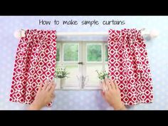 Here I will show you the easiest way how to make curtains using the rod pocket method. Even beginners will be able to sew curtains with this easy method. curtains How to Make Curtains Camper Curtains, No Sew Curtains, Kids Curtains, How To Make Curtains, Kitchen Curtains, Small Window Curtains, Rod Pocket Curtains, Classroom Curtains, Curtain Tutorial