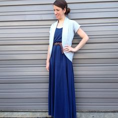 Day 31!  Sewaholic Saltspring dress, Mouse House Creations Julia Cardigan #mmmay14