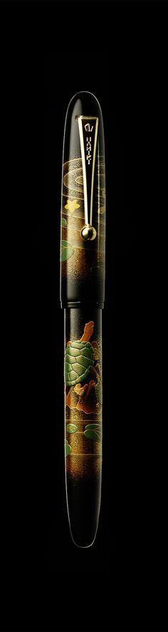 Namiki Yukari maki-e fountain pen - Turtles