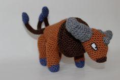 #128 tauros crochet Pokemon Crochet Pattern, Amigurumi Patterns, Amigurumi Doll, Crochet Patterns, Knit Or Crochet, Crochet Crafts, Crochet Toys, Crochet Projects, Diy Projects