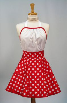 Retro Apron Hostess Style Womens Apron by SwankyPlaceAprons, $37.50