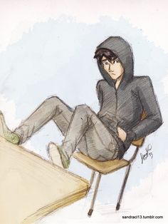 Percy Jackson. Just like me. Always the kid in the back no wanting attention but of course I get it ._.