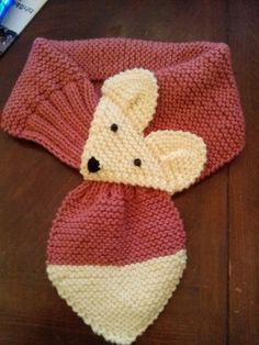 Rose Fox Hand Knit scarf / neck warmer for Kids or Adults Made with acrylic yarn. The scarf is very cute warm and nice Size: Adults length: