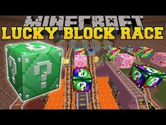 Pat And JEN PopularMMOs | Minecraft ROLLER COASTER MINE LUCKY BLOCK RACE...
