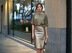 Silk And Leather   Camille Tries To Blog  http://itscamilleco.com/2015/02/olive-and-gold/