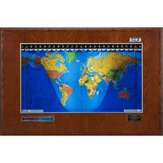 Geochron BMG-X-X-7000 Boardroom Model Geochron World Clock Finish: Honey Oak Wood Geochron