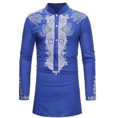 Mens Dashiki Print Long Tribal Shirt Succinct Hippie Top Clothing Fashion Shirts - Ideas of Dashiki Dashiki Shirt, Dashiki Dress, Tribal Shirt, Camisa Tribal, Dashiki For Men, Style Africain, African Shirts, Hippie Tops, Black Girls