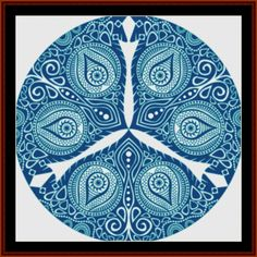 Fractal 608 cross stitch pattern by Cross Stitch Collectibles