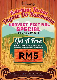 27-31 May 2016: Times Book Store Harvest Festival Special Promotion
