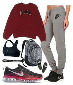 """To The Gym"" by sportinggirl00 ❤ liked on Polyvore featuring NIKE"