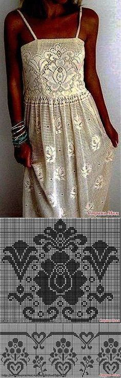 Чудо платье в филейной технике: Дневник группы 'Все в ажуре... (вязание крючком)' - Страна Мам