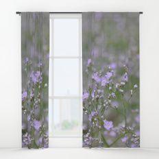 Romantic Lilac Tiny Flower Field Window Curtains #curtains #deco #decoration #romantic #style #living #house #interior #window #purple #lilac