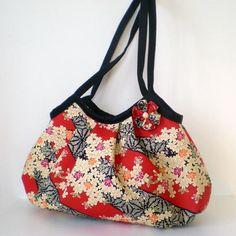Zippered Large Granny Bag Japanese Kimono pattern by tagodesign