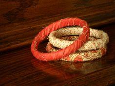 fabric wrapped bracelet @simplesimon&co