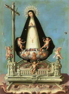 Soledad de la Victoria en sus andas procesionales. José Campeche. 1782-89 - Nuestra Señora de la Soledad - Wikipedia, la enciclopedia libre