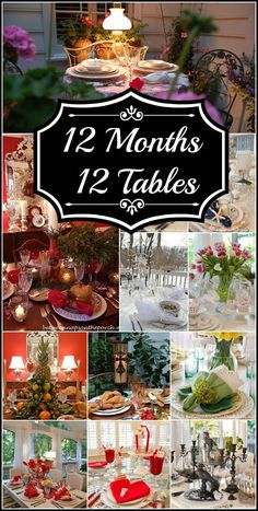 12 Table Settings, One for Each Month of the Year   Between Naps on the Porch